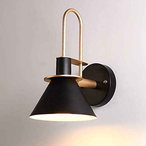 SISVIV Apliques de Pared Vintage Industrial Lámpara de Pared Luz Casquillo E27 Nórdico para Dormitorio Cocina Estudio Baño Restaurante Negro