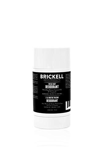Brickell Men's Products Desodorante natural para hombres, natural y orgánico, sin aluminio, alcohol ni bicarbonato de sodio, 78 ml (Menta fresca)