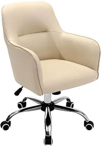 Stühle Computer-Arbeitszimmer Hebeschlaf PU Swivel Seat Boss Sessel (Color : Beige)