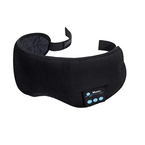 Schlafkopfhörer Bluetooth, Bluetooth Schlafmaske, Kabellose 5.0 Bluetooth Augenmaske für Reisen mit Dem Flugzeug, Lichtblockierende, Abwaschba, Bluetooth Kopfhörern mit Mikrofon-Freisprecheinrichtung