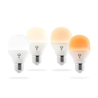 LIFX A19 Mini Day and Dusk White Wi-Fi Smart LED Light Bulb, Dimmable, No Hub Required, App and Voice Control, Works with Amazon Alexa, Apple HomeKit, Google Assistant and Microsoft Cortana - 4 Pack (B072Y6X7QS) | Amazon price tracker / tracking, Amazon price history charts, Amazon price watches, Amazon price drop alerts