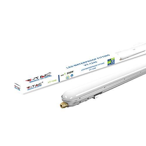 V-TAC VT-1248 LED Lampe, Plastic+ABS, T8, 36 W, weiß, 36W-120cm