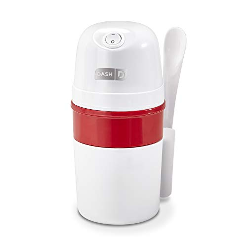 DASH DPIC100GBWH04 My Pint Electric Machine for Gelato, Sorbet + Frozen Yogurt Ice Cream Maker, 0.4qt, White