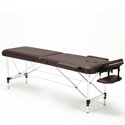 Table de massage pliant Portable professionnel Lit de spa ajustable Salon d'aluminium de salon de...