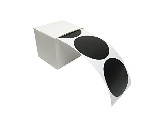 EAST-WEST Trading GmbH 100 Tafelsticker, runde Etiketten, Vinylsticker, Tafelaufkleber in praktischer Spenderbox