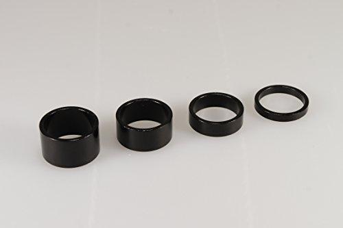4pcs Nueva Calidad de aleación Negro Auricular espaciadores 11/8'–5mm, 10mm, 15mm, 20mm