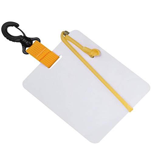 Keen so Dive Schrijven Slate, Plastic Waterdichte Onderwater Schrijven Tablet Duik Schrijven Leisteen Board Met Draaibare Clip En Potlood voor Watersport