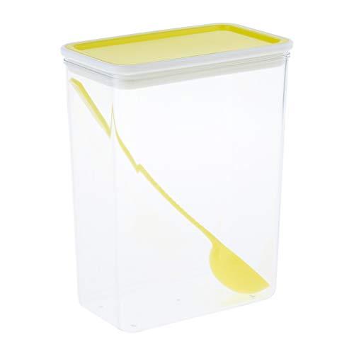 B Baosity Vorratsdosen Frischhaltedosen Vorratsbehälter   Luftdicht, Wasserdicht und BPA-Frei   Dosen Behälter zur Aufbewahrung von Mehl, Zucker, Nudel - Gelb