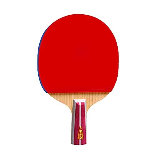LINGOSHUN Juego de Paleta de Ping-Pong, Raquetas de Tenis de Mesa Portátiles para Adultos y Niños,Actividad Interior/Exterior,Entrenamiento para Principiantes/Single/Short handle