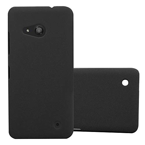 Cadorabo Hülle für Nokia Lumia 550 in Frosty SCHWARZ – Hardcase Handyhülle aus Plastik gegen Kratzer und Stöße – Schutzhülle Bumper Ultra Slim Back Case Hard Cover