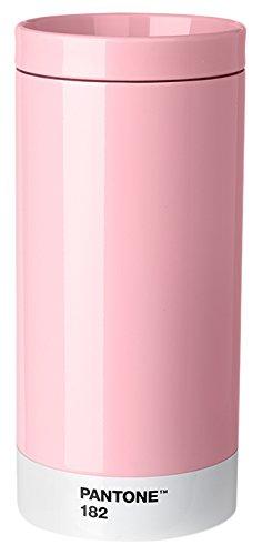 Pantone Reisebecher, Edelstahl, ABS, Light Pink 182, 7.5 x 7.5 x 16.4 cm