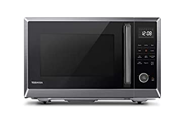 Toshiba ML2-EC10SA BS  Multifunctional Microwave Oven with Healthy Air Fry Convection Cooking Position Memory Turntable Easy-Clean Interior and ECO Mode 1.0 Cu.ft Black Stainless Steel