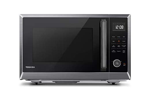 Toshiba ML2-EC10SA(BS) 4-in-1 Microwave Oven with Healthy Air Fry, Convection Cooking, Easy-clean Interior and ECO Mode, 1.0 Cu.ft, Black stainless steel
