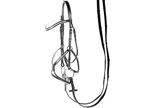 Harry\'s Horse Hoofdstel Mexicaans Crystal, Größe:Pony, Farbe:schwarz