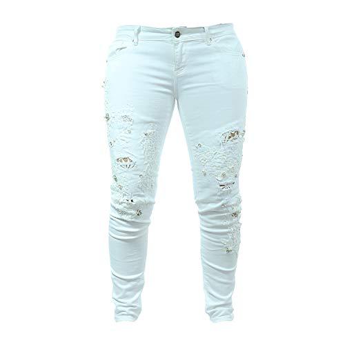 Fracomina Damen Jeans White Weiß FR18SPJMARTINA5 (27)
