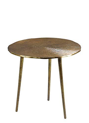 HomeTrends4You Kumar 2 Couchtisch/Beistelltisch/Tischset, Metall, gold, Durchmesser, Höhe 50cm
