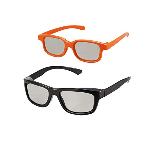 Turns 3D movies back into 2D 2D Glasses 4 Pack eDimensional 4 Pairs for passive 3D Televisions and for use in RealD 3D Theaters
