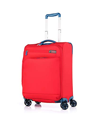 Verage Visionary Reisekoffer Handgepäck | 4 Rollen Stoff Trolley mit TSA-Schloss | Rot, S-(19.5