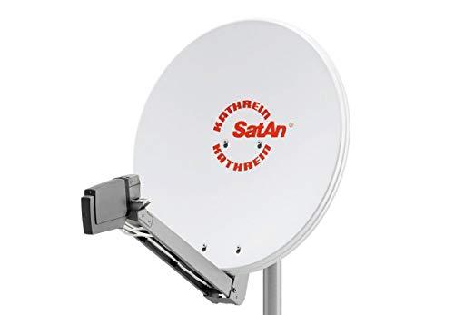 HD Sat Anlage von Kathrein für 4 Anschlüsse mit Kathrein CAS 80 (75cm) in weiß Quad LNB - Für HDTV 1080p, 3D, Ultra HD 4K