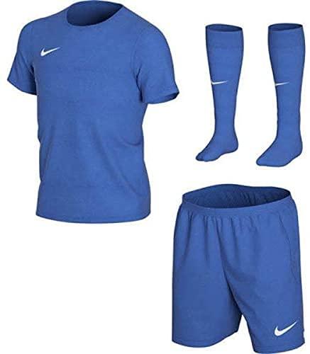 Nike 3 in 1 Trikot Hose Stutzen Set für Kinder Dry Fit Royal Blue CD2244463 (M)