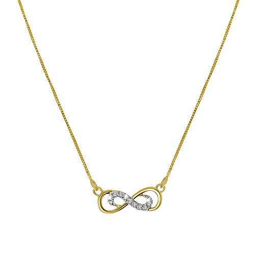 Diamond Luxury - 585 Gelbgold-Kette Unendlichkeitssymbol mit Diamanten - für Damen - Gelb