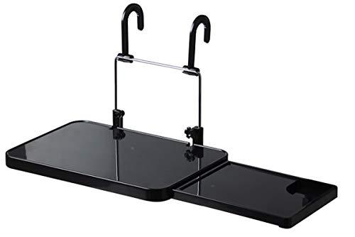 車載用テーブル ノートパソコン用テーブル マウス使える引き出し付 車用簡易テーブル カーテーブル 折りたたみ サイドテーブル付き ABS素材 丈夫耐用 角度と高さ調整可能 ハンドルとヘッドレストに取り付け パソコン作業・食事・地図の確認等(Sutekus)