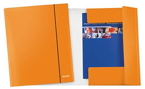 LEITZ - WOW cartella a 3 lembi con elastico - Arancione metallizzato - 39830044