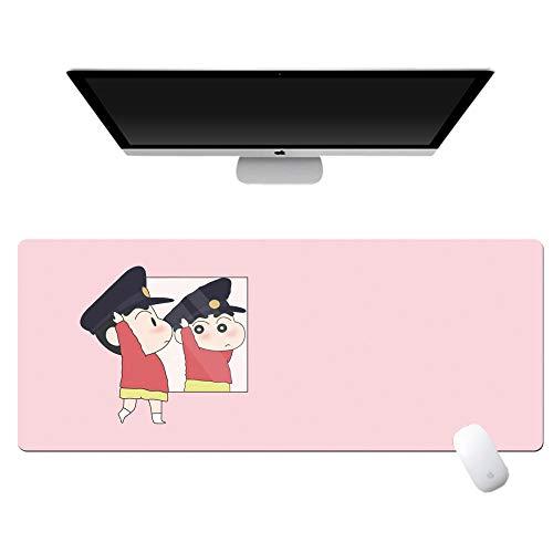 yinying Alfombrilla de ratón de Anime,Crayon Shin-Chan Anime Alfombrilla de ratón Teclado de computadora Escritorio-Saludo a la fundación_800x300mm_3 mm