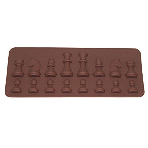 JoyliveCY Internacional Juego ajedrez Molde Chocolate