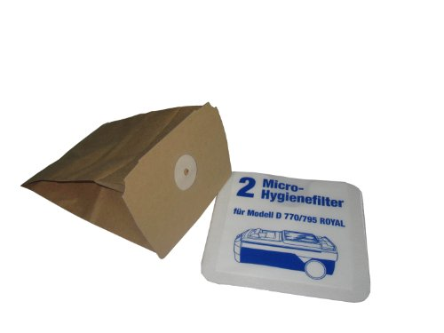 10 Staubsaugerbeutel + 2 Hygienefilter Microfilter für LUX Electrolux D748 750 760 D770 - 795 Royal
