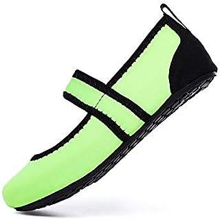 Women Aqua Shoes Beach Wear Swimming Pool Footwear Barefoot Female Fishing Water Sneakers Non-Slip Walking Water Shoes Gaodpz (Color : Green, Size : 35)