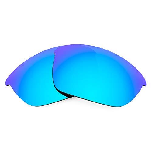 Revant Lentes de Repuesto Compatibles con Gafas de Sol Oakley Half Jacket 2.0, Polarizados, Azul Hielo MirrorShield