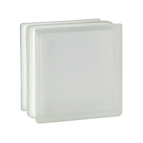 4 Stück FUCHS Glassteine Vollsicht Weiß 2-seitig satiniert (Milchglas) 19x19x10 cm - F30 (Brandschutz)