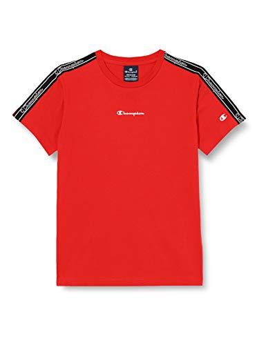 Champion Boys' Seasonal Tape T-Shirt, Red (RS041), Medium