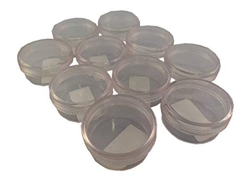 10 pots vides 10 ml avec couvercle vissable pour nail art