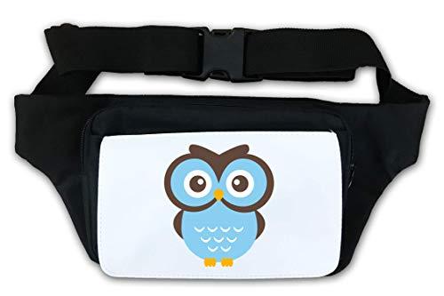 Little Cute Blue Owl Nature Art Graphic Bauchtasche
