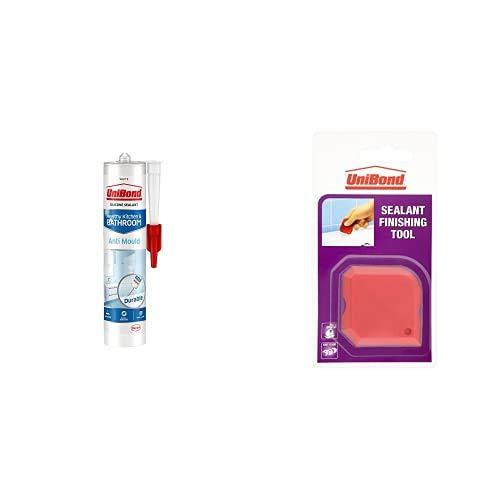 UniBond Anti-Mould White, Waterproof Mould Protection Kitchen & Bathroom Sealant Including UniBond...