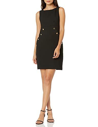 Trina Turk Women's Button Front Dress, Black, 6