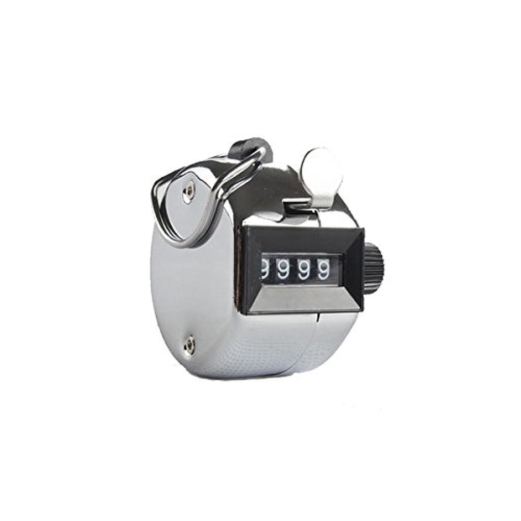 パックによって増強するエクステカウンター(シルバー)手持ちホルダー付き 数取器 まつげエクステ用品