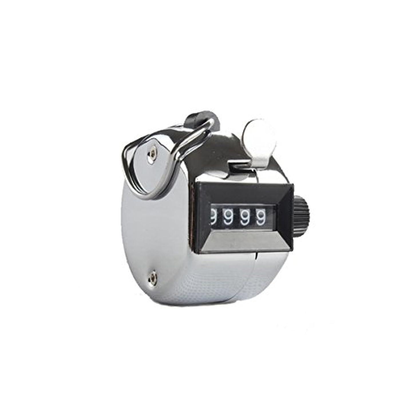 シャンプー継承有名エクステカウンター(シルバー)手持ちホルダー付き 数取器 まつげエクステ用品