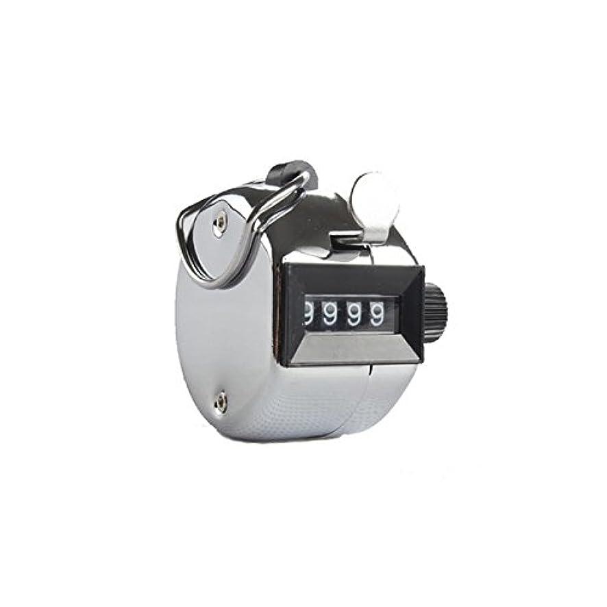 熱帯のライブアコーエクステカウンター(シルバー)手持ちホルダー付き 数取器 まつげエクステ用品