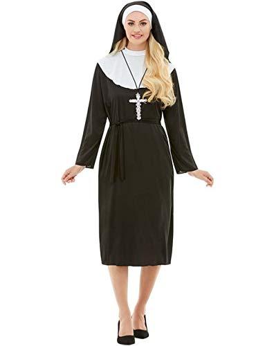 Funidelia | Disfraz de Monja para Mujer Talla XXXL Religioso, Nun, Sister Act, Profesiones - Negro