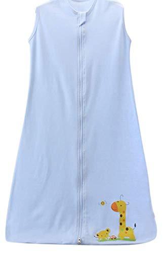 schlafsack baby sommer mädchen junge Frühling schlafanzug baumwolle dünner neugeboren Eule Grün - 0.5 tog. (130CM (3-4Jahre), Blau Giraffe Auto)