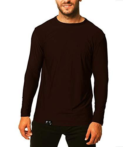 Camiseta UV Protection Masculina UV50+ Tecido Ice Dry Fit Secagem Rápida G Marrom