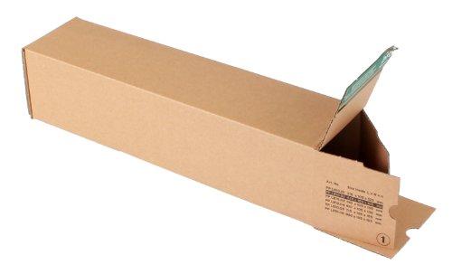 progressPACK Universalversandhülse Premium PP LB10.02 aus Wellpappe, DIN A2, 435 x 105 x 105 mm, 10-er Pack, braun