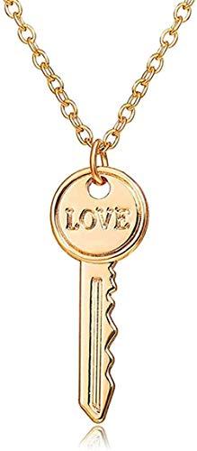 BACKZY MXJP Necklace Lock & Key Pendant Couple Necklaces for Women & Men Love Friendship Promise Necklace Romantic