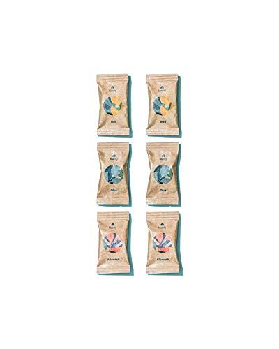 KLÆNY® Refill Set Nachhaltige Putzmitteltabs Badreiniger, Allzweckreiniger & Glasreiniger (Unterschiedliche Größen) (6-er Set)
