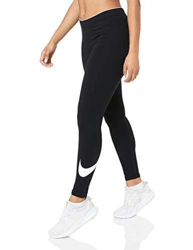Nike W NSW Club logo2 Damen Leggings, Schwarz(Black/White/010), Gr. XXL