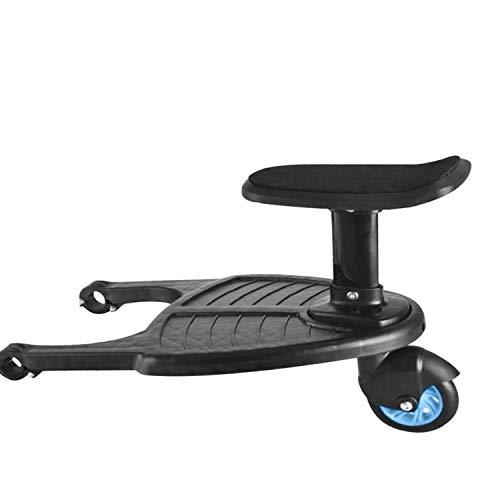吊り下げ式トロリー用アダプター 補助ペダル カー用ペダル トラベルトレーラー用補助シート 立ち板 座席 取り外し可能 カーバギー 快適乗り 安全性 カーアクセサリー 静音ラバータイヤ(ブルー)