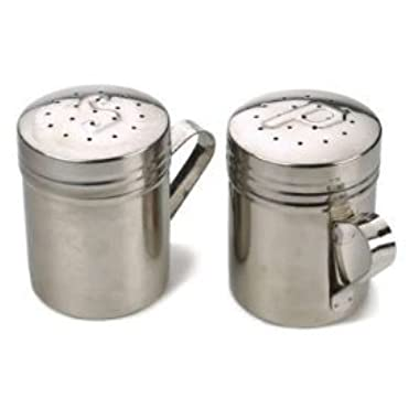 RSVP Endurance 18/8 Stainless Steel Stove Top Salt and Pepper Shakers, 10 ounce (.3L)